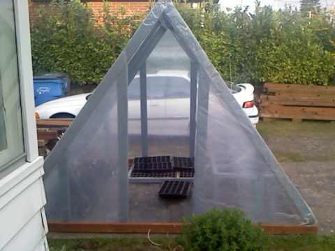 a-frame greenhouse