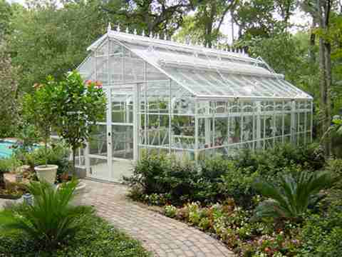 elegant glass greenhouse