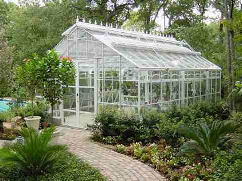 elegant glass greenhouse