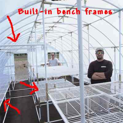 built-in bench frames
