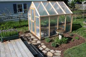 put greenhouse close to garden
