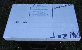 Styrofoam block for lettuce raft
