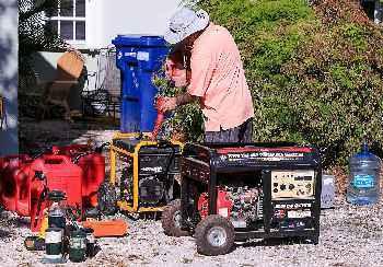 Preparing portable generators for the next disaster.