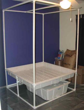 Pvc Hydroponics Stand Clever Design Cheap To Build