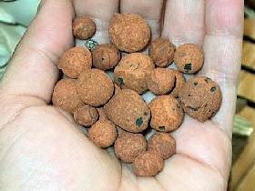 handful of clay balls