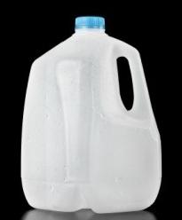 plastic milk jug