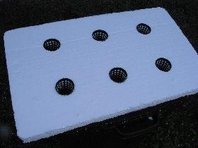 Styrofoam block ready for pots