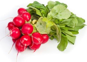 healthy radishes
