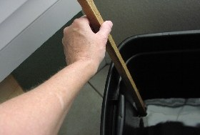 using an old-fashioned dipstick