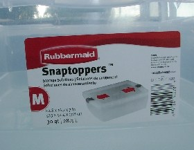 Rubbermaid snaptopper