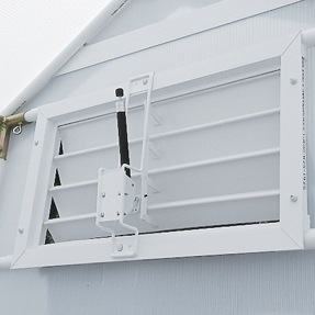 louvered greenhouse vents