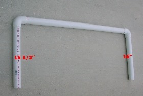assembling PVC frame for buckets