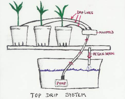top drip system diagram