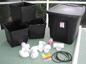 supplies for top drip bucket system